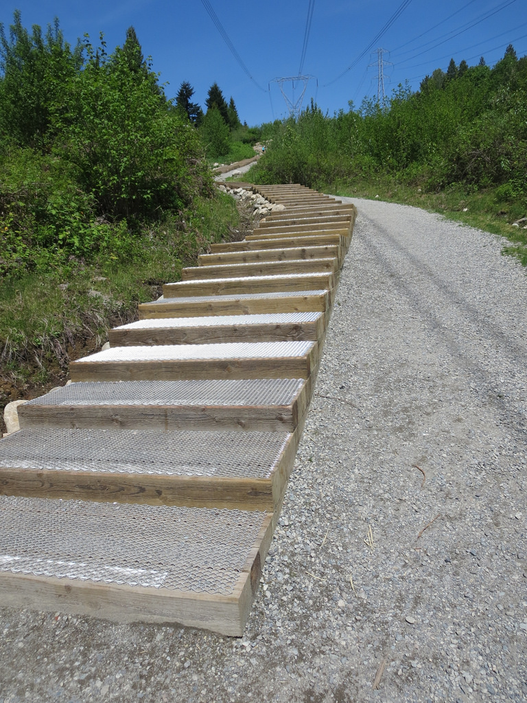 New Stairs on Coquitlam Crunch