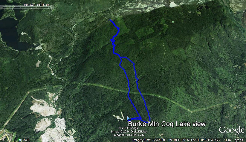 Burke Mtn Coq Lake view