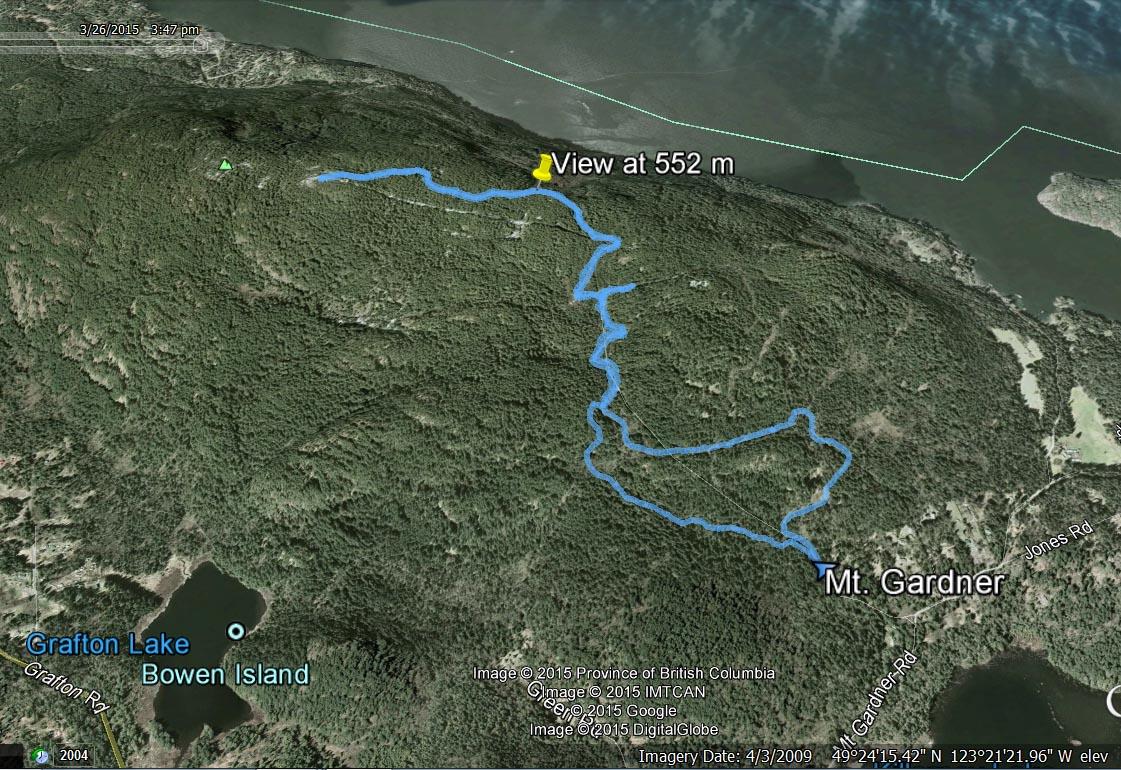 Mt. Gardner route