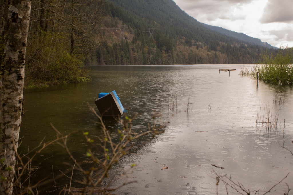 North Beach at Flooded Buntzen Lake