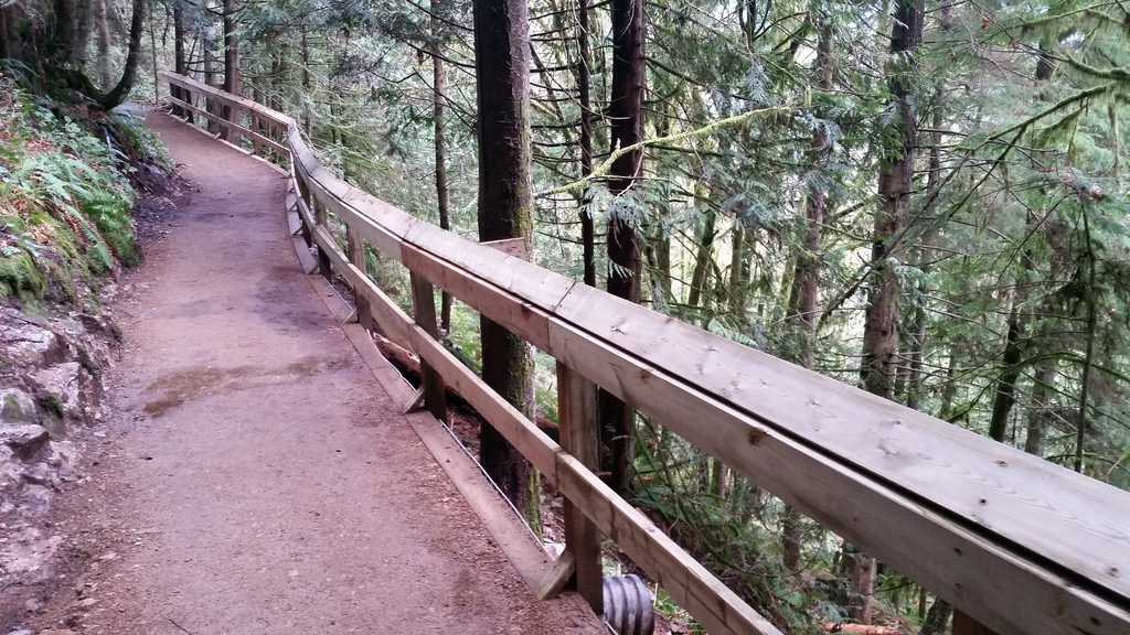 Repaired railing
