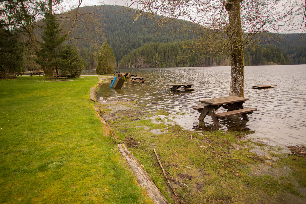 South Beach flooded at Buntzen Lake2