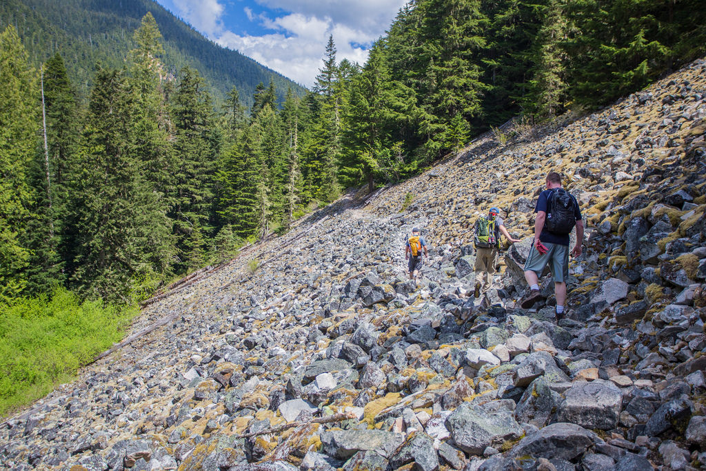Boulder Field traverse