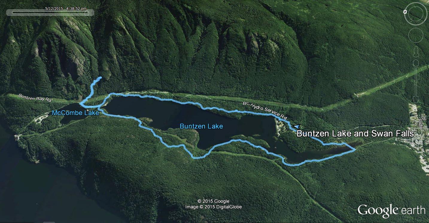 Buntzen Lake Swan Falls