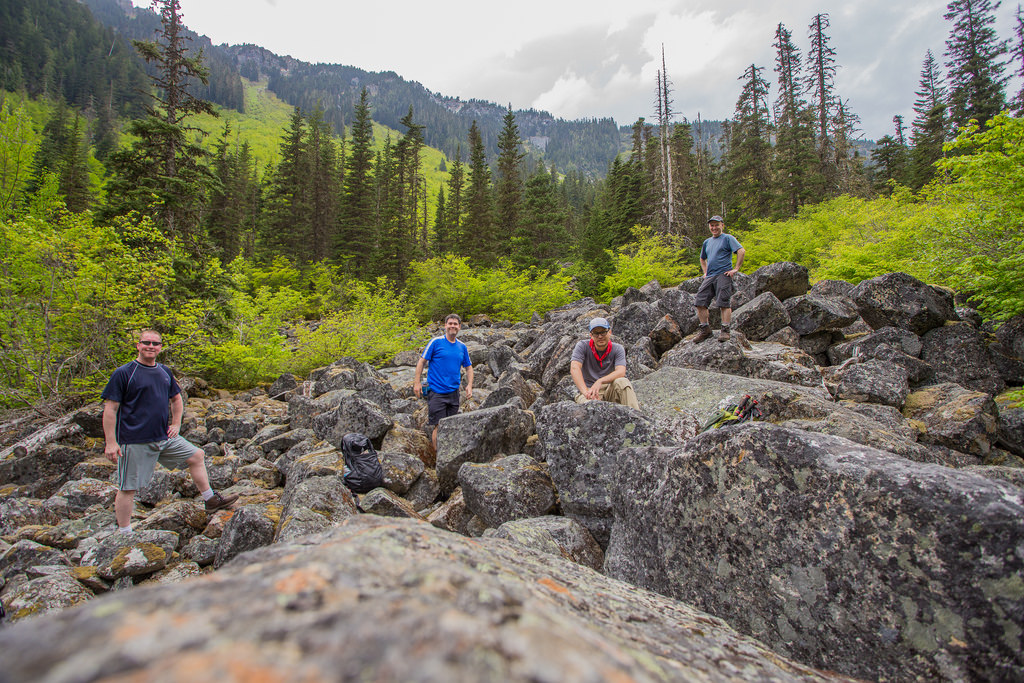 Group photo in Boulder Field