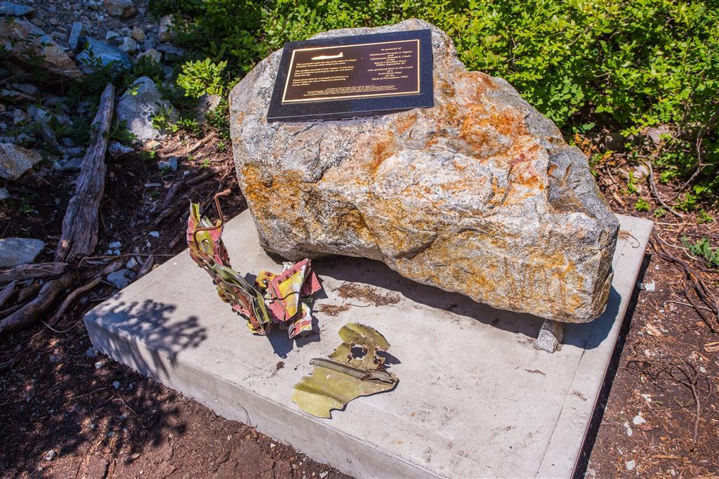 Plane wreck memorial