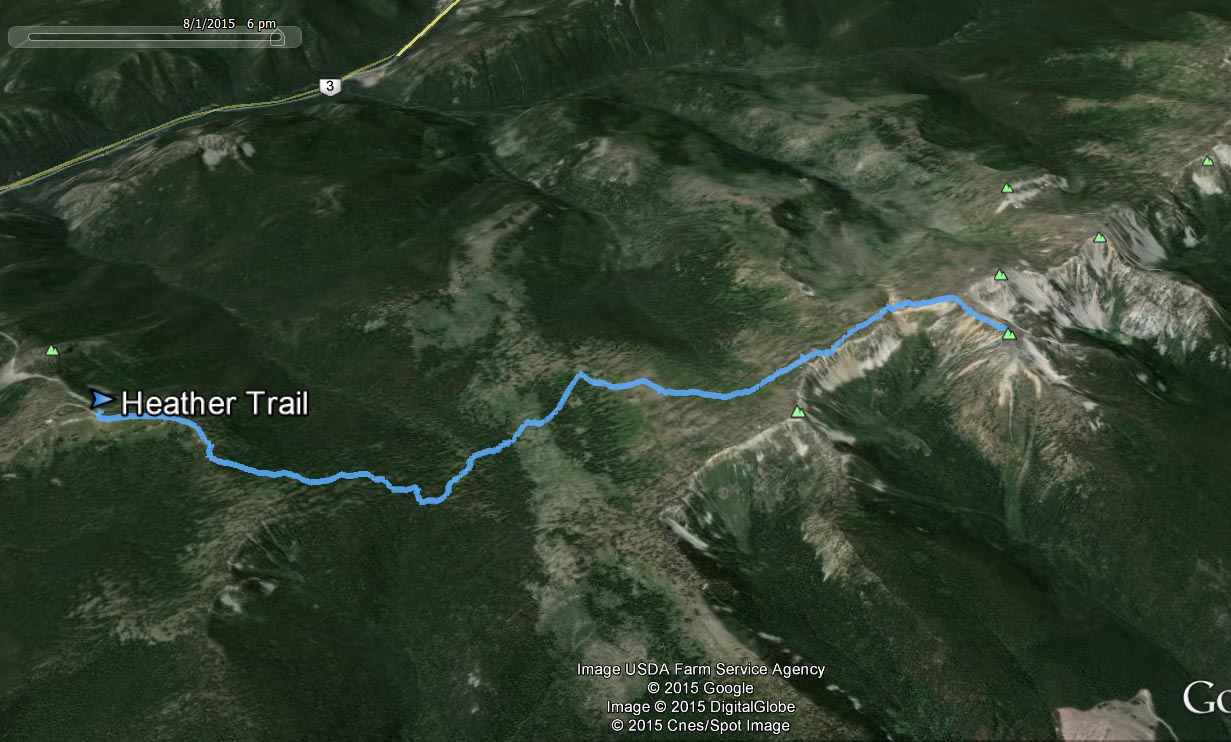 Heather trail route
