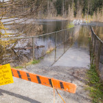 Flooding at Buntzen Lake