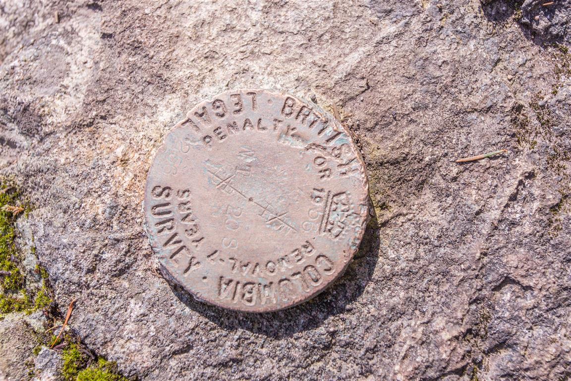Survey Monument at Burns Point