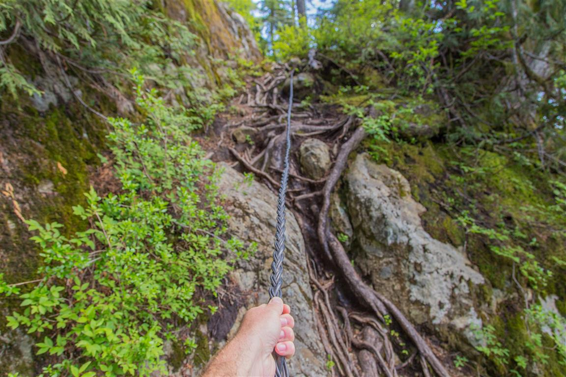 Rope on trail