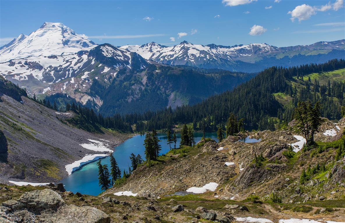 Mt. Baker and Iceberg Lake