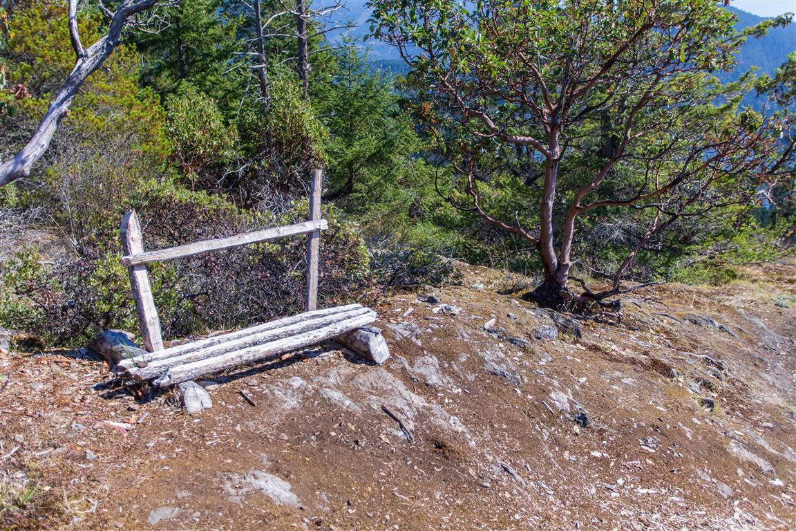 Bench at top
