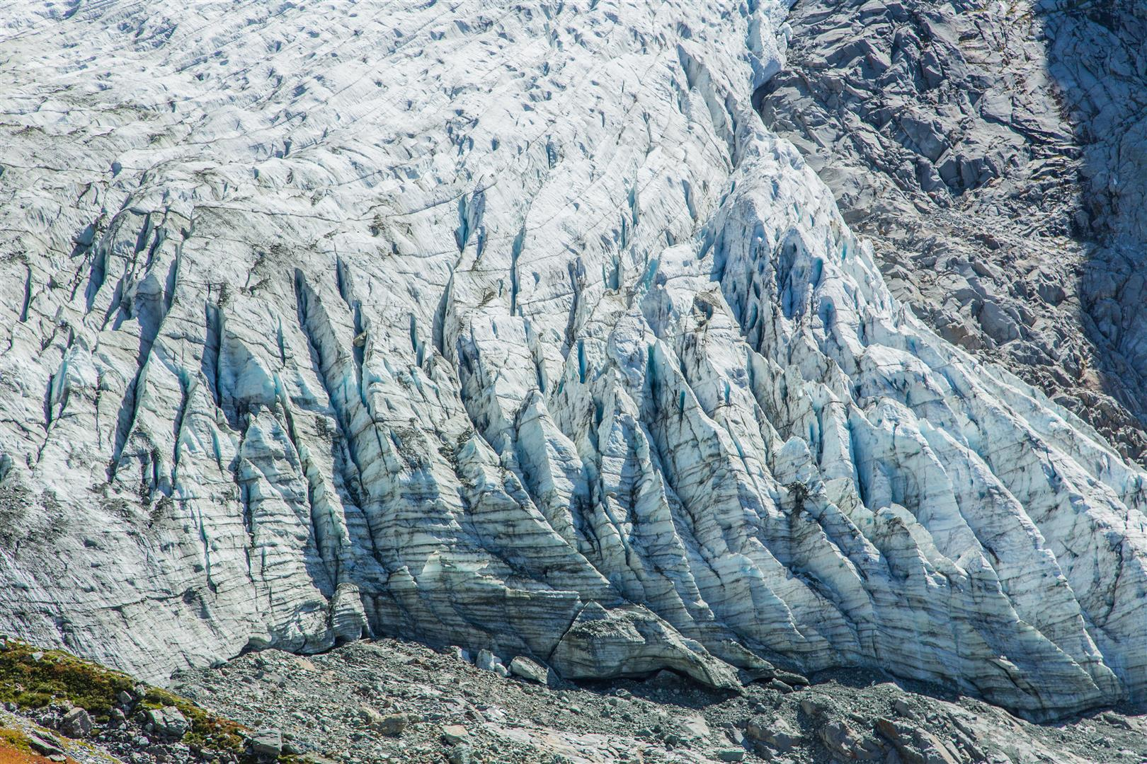 Lower Curtis Glacier detail
