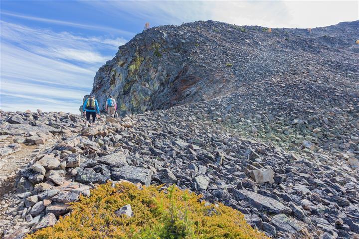 Start of climb up to ridge