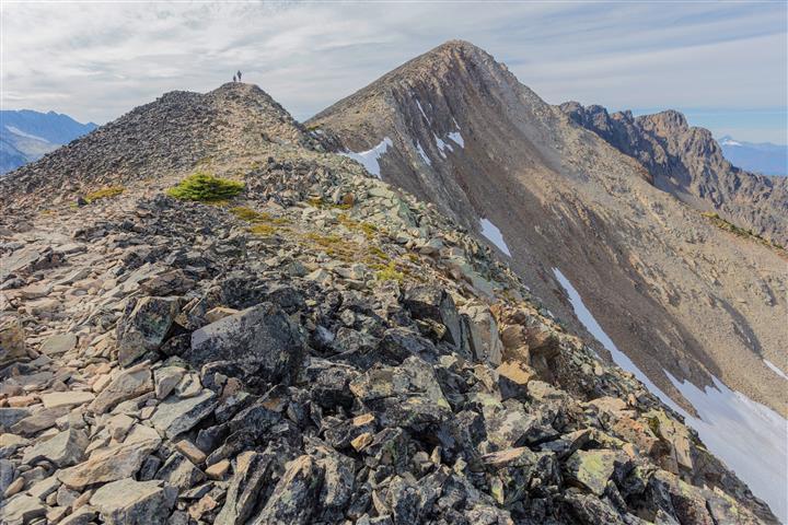 Looking along the ridge