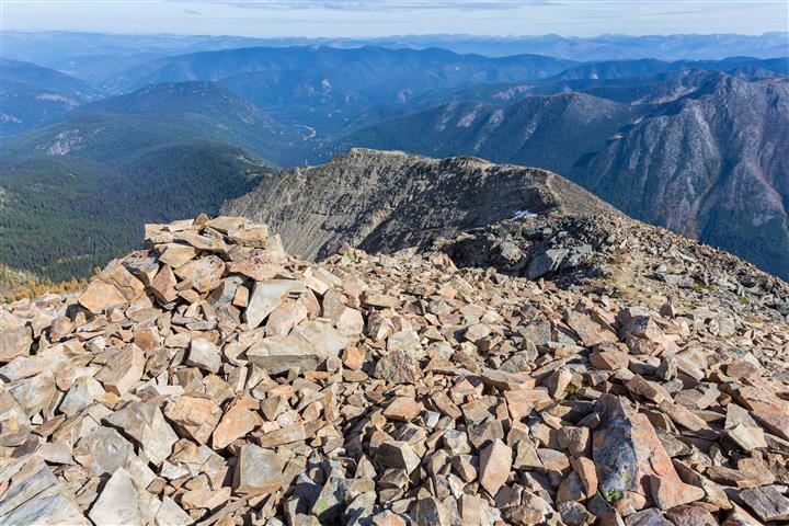 View down ridge from summit