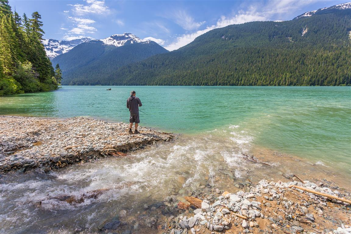 Fishing at Cheakamus Lake