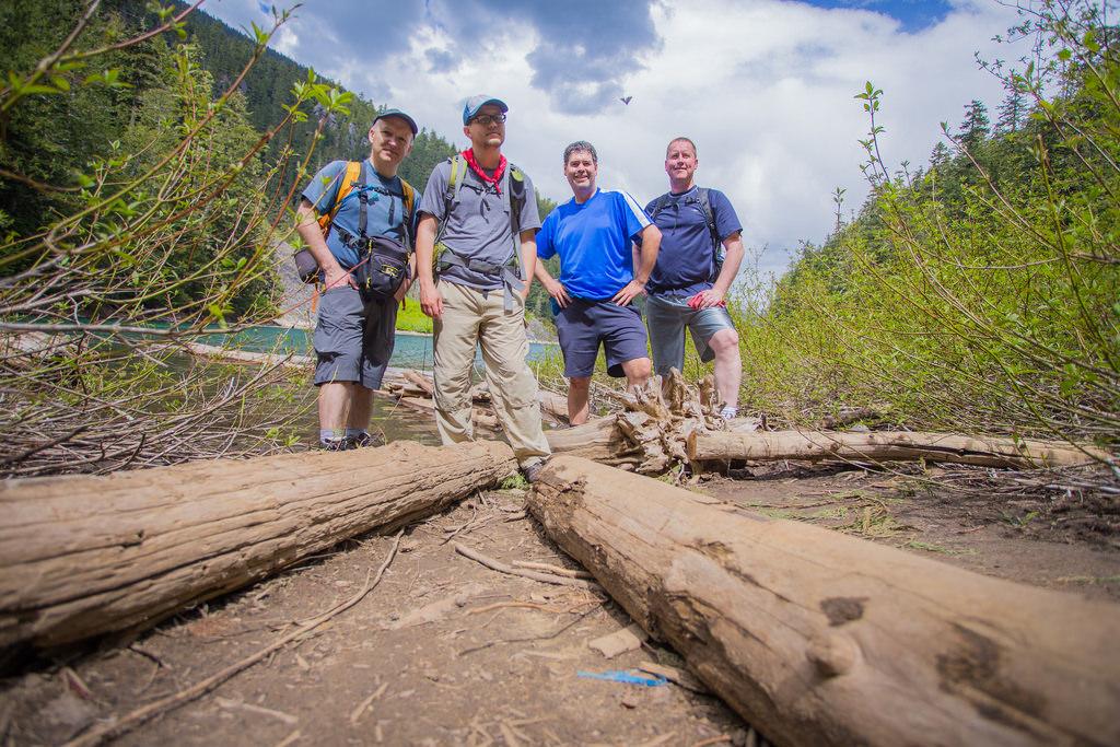 Group photo at Greendrop Lake