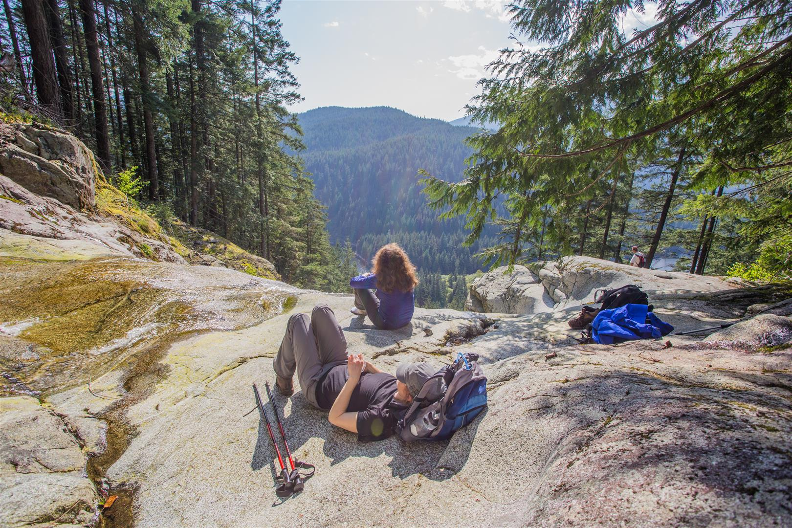 Relaxing at Swan Falls