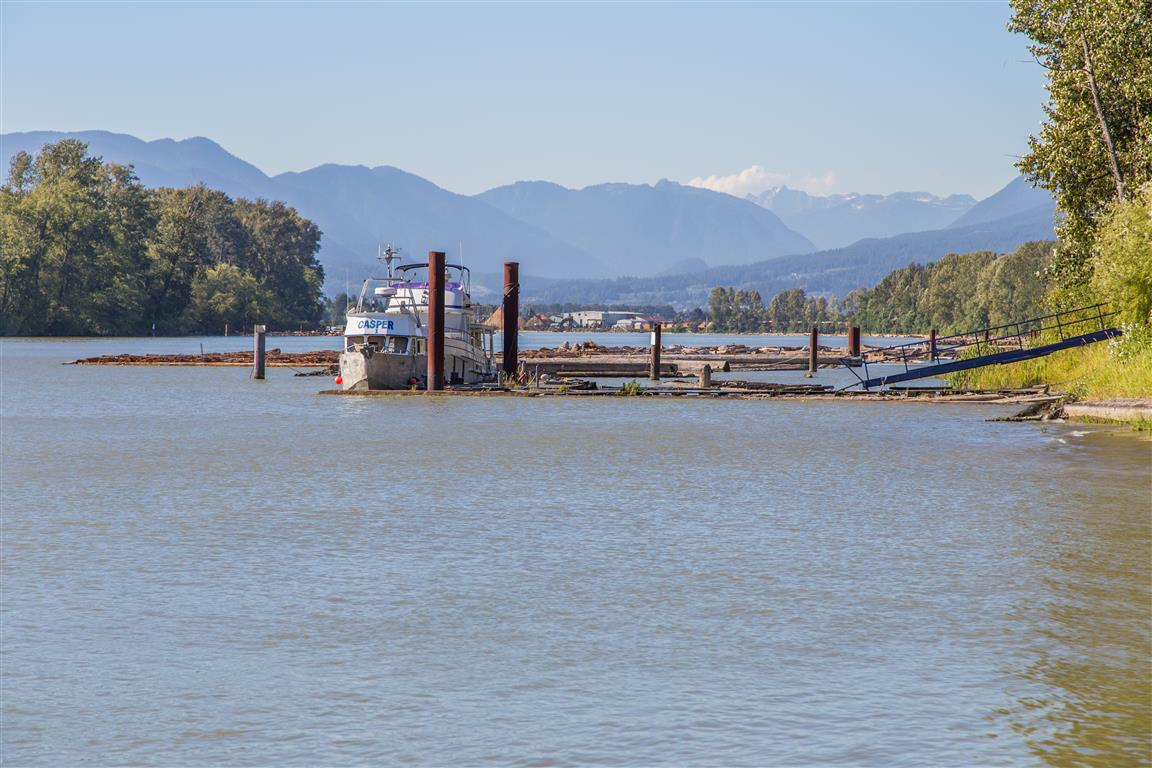 Boat on Fraser River