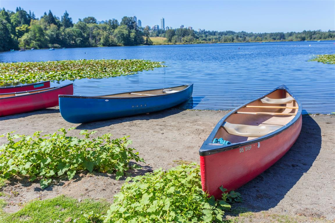 Canoes at Deer Lake